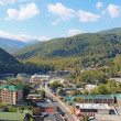 Aerial view of the main road through Gatlinburg, Tennessee — Stock Photo