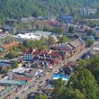 Aerial view of the main road through Gatlinburg, Tennessee — Stok fotoğraf