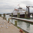 Sound Class ferry Cedar Island at the terminal in Ocracoke — Stock Photo