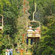 Tourists riding the Sky Lift in Gatlinburg, Tennessee vertical — Stock Photo #33737495