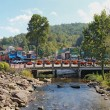 Stockfoto: Bridge over the Little Pigeon River in Gatlinburg, Tennessee