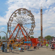 Rides on the Midway at the Indiana State Fair — 图库照片