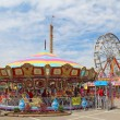 Rides on the Midway at the Indiana State Fair — Stockfoto