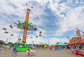 Rides on the Midway at the Indiana State Fair — Stock Photo