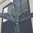 Sign for West 6th Street and Congress Avenue in Austin, Texas — Stock Photo