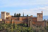 The Alcazaba of the Alhambra in Granda, Spain — Stock Photo