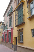 Houses on a street in Seville, Spain — Stock Photo