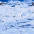 ������, ������: Skiers ascending to Monte Rosa Hut