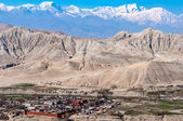 Lo Manthang: The Walled City — Stock Photo