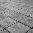 White Tiles ground in black and white — Stock Photo