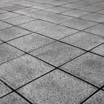 White Tiles ground in black and white — Stock Photo