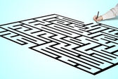 Hand drawing maze — Stock Photo