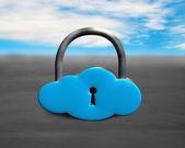 Large cloud shape lock on concrete ground — Stock Photo