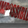 Impossible word on cracked wall with hole — Stock Photo #46869015