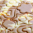 Various figures on spotty dough — Stock Photo #14114081