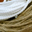 Stock Photo: Nylon and hemp cord