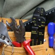 Leather tool belt — Stock Photo #14114931