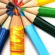 Royalty-Free Stock Photo: Color pencils around of the multi-colour brother