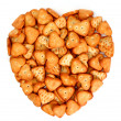 Heart made from salty cookies - Stock Photo