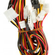 Color computer wires with connectors — Stock Photo #14115717
