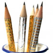 Royalty-Free Stock Photo: Set of celebratory sparkling pencils standing in a vase
