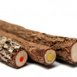 Royalty-Free Stock Photo: Three unusual pencils with a multi-coloured core