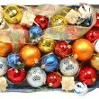 Set of multi-coloured celebratory ornaments and ribbons — Stock Photo