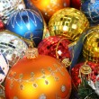 New Year's ornaments of different color — Stock Photo
