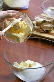 Preparing pastry dough — Stock Photo