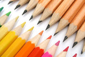 Pencils for plotting against color brothers — Stock Photo