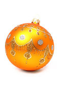New Year's sphere of orange color — Stock Photo