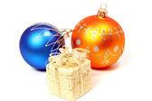Twee feestelijke sferen van oranje en blauwe kleur — Stockfoto