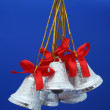 Christmas celebratory handbells of silvery color 2 — Foto de Stock