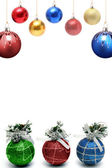 Christmas framework with a set of spheres — Stock Photo