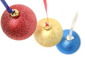Celebratory ornaments in the form of glass spheres — Stock Photo