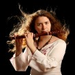Stock Photo: Beautiful Flutist