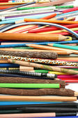Collection of pencils for plotting and drawing — Stock Photo