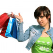 The happy girl with purchases — Stock Photo #14458963