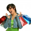 The happy girl with purchases — Stock Photo #14459303
