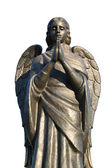 Fragment of a bronze sculpture of a praying angel 4 — Stock Photo