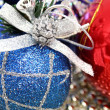 Christmas spheres of various color with a pattern — Foto Stock