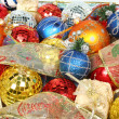 Set of New Year's celebratory ornaments and ribbons — Stockfoto