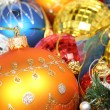 Royalty-Free Stock Photo: Christmas ornaments of different color in the form of glass 2