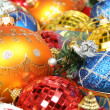 New Year's ornaments of different color in the form spheres 3 — Stock Photo