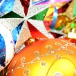 Christmas ornaments of different color  and stars1 — Stock Photo