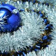 Stock Photo: Christmas glass sphere with a pattern 6