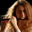 Beautiful Flutist - Stock Photo