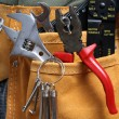 Leather tool belt — Stock Photo #14466627