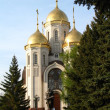 Kind on an orthodox temple of all sacred in Volgograd in summer — Stock Photo