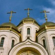 Gold domes and crosses of an orthodox temple of all sacred 5 — Stock Photo
